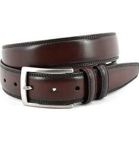 HAND STAINED ITALIAN KIPSKIN BELT - ESPRESSO