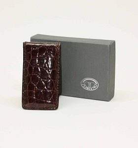 Alligator Magnetic Money Clip Brown $115.00