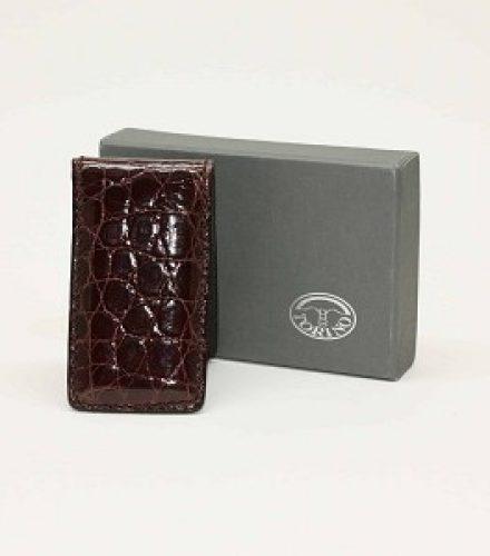 Alligator Magnetic Money Clip Brown $115.00